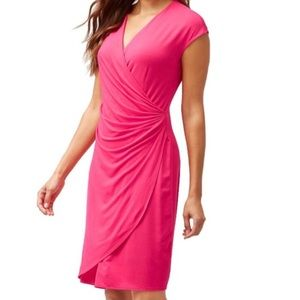 Tommy Bahama NWT Pink Tambour Side Gathered Dress